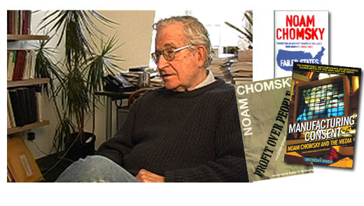 <h3>Noam Chomsky</h3>Noam Chomsky is a world renowned professor at MIT. He has lectured at many universities here and abroad, and is the recipient of numerous honorary degrees and awards. He has written and lectured widely on linguistics, philosophy and the media, as well as intellectual history, contemporary issues, international affairs and U.S. foreign policy. His most recent books are A New Generation Draws the Line; New Horizons in the Study of Language and Mind; Rogue States; 9-11; Understanding Power; On Nature and Language; Pirates and Emperors, Old and New; Chomsky on Democracy and Education; Middle East Illusions; and Hegemony or Survival. He was also featured in the film Manfacturing Consent, which focuses on his analysis of the modern media.